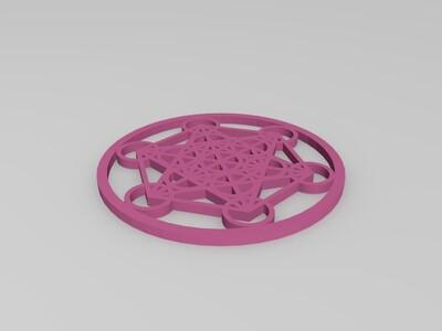立方体挂坠-3d打印模型