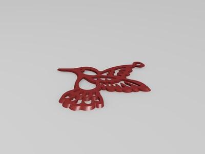 蜂鸟吊坠-3d打印模型