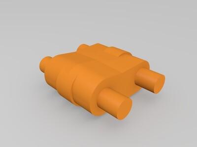 变形轰炸机 战斗机器人-3d打印模型