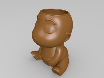 宝宝花盆-3d打印模型