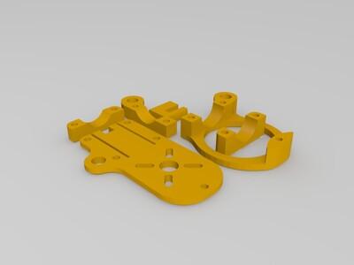 无人机框架组-3d打印模型