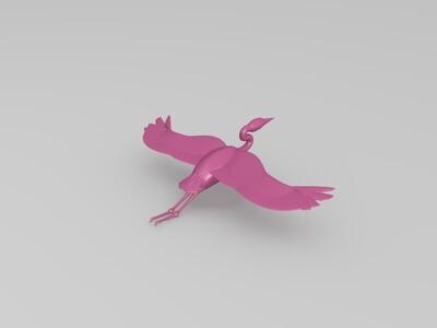 蓝色的苍鹭-3d打印模型