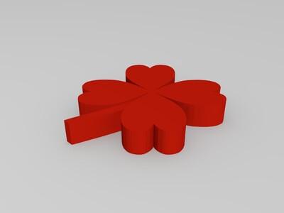 四叶草模型-3d打印模型