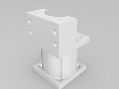 步进电机支架-3d打印模型