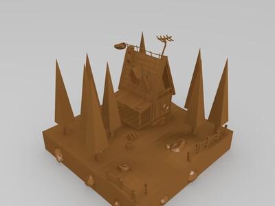 场景房-3d打印模型