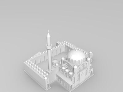伊斯坦布尔清真寺-3d打印模型