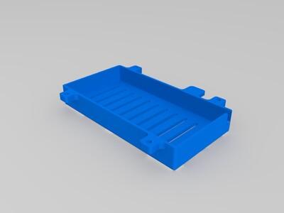 钢铁侠风格直列四缸发动机模型底座下的电池壳-3d打印模型