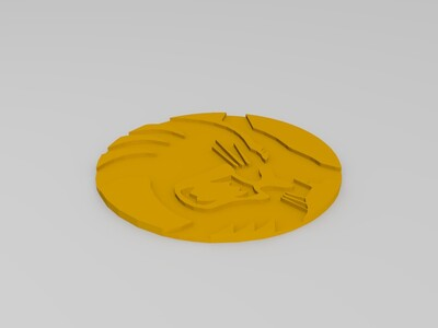 野猫标志-3d打印模型
