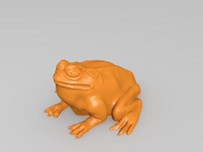 青蛙-3d打印模型
