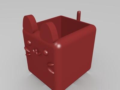 猫咪植栽盆-3d打印模型