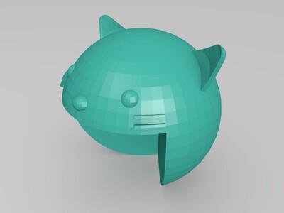 护角猫-3d打印模型