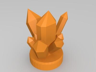 水晶LED灯-3d打印模型