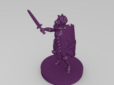 猫人帕拉丁-3d打印模型