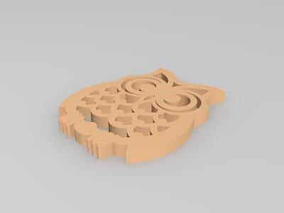 猫头鹰标志-3d打印模型