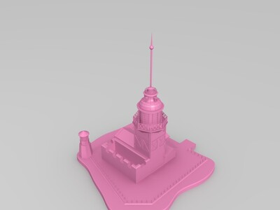 女孩塔-3d打印模型