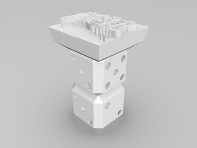 战狼印章-3d打印模型