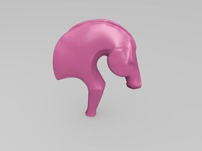 雕塑马头型-3d打印模型