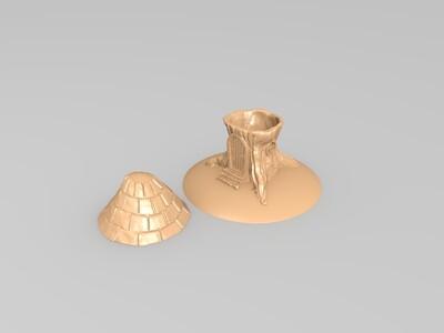 树桩屋-3d打印模型