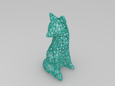 小狐狸灯罩-3d打印模型
