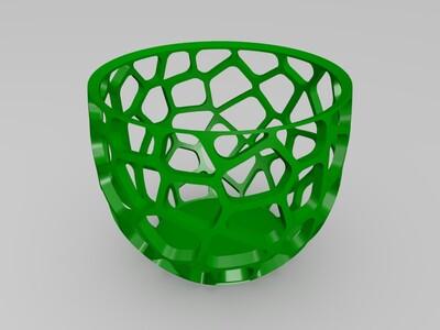 镂空球型桶-3d打印模型