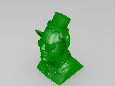 大耳朵人物雕塑-3d打印模型