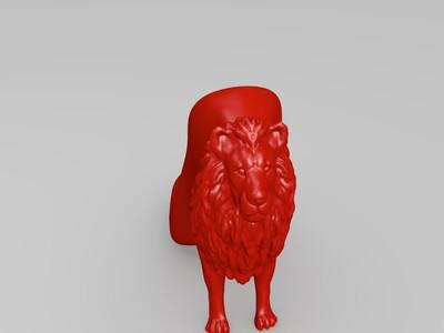 狮子高跟鞋-3d打印模型