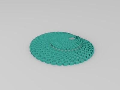 3D打印的孔雀开屏吊坠-3d打印模型