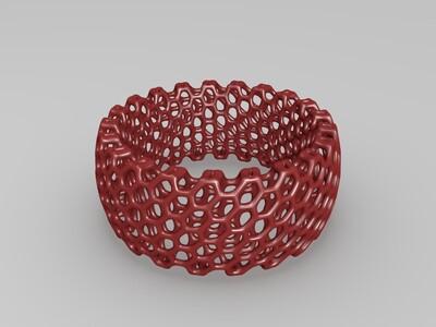 3D打印的规则圆环手镯-3d打印模型