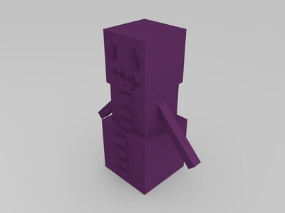 我的世界-雪傀儡-3d打印模型