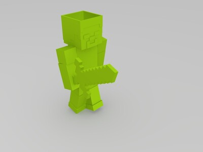 史蒂夫花盆-3d打印模型