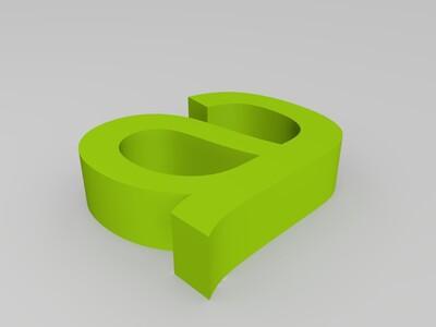 字母abc-3d打印模型