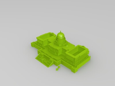 美国--国会大厦-3d打印模型