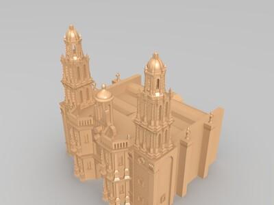 圣路易斯波托西卡门大教堂-3d打印模型