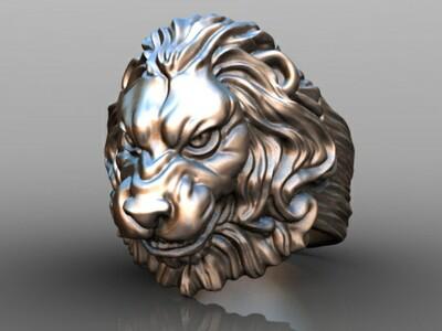 雄狮戒-3d打印模型