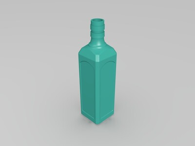瓶子模型3D扫描建模设计-3d打印模型
