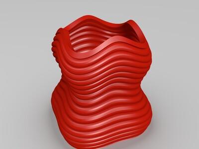 波浪笔筒-3d打印模型