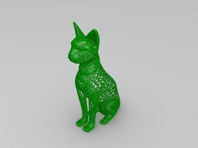 镂空猫-3d打印模型