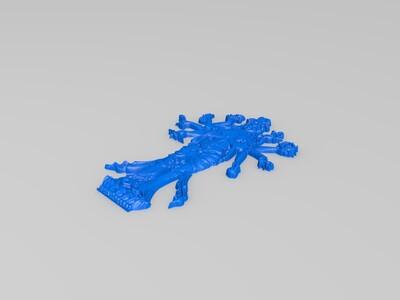 平面千手-3d打印模型