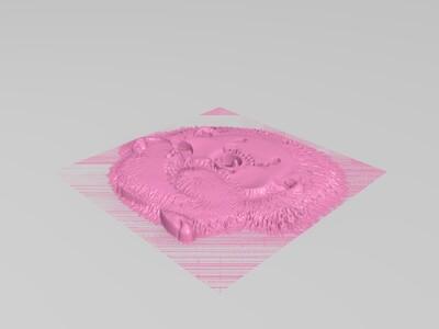 小刺猬-3d打印模型