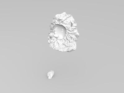 雄狮拼接-3d打印模型