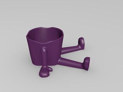 坐着的花盆-3d打印模型