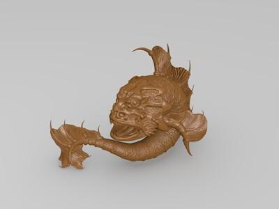 怪兽鱼-3d打印模型