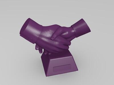 握手模型-3d打印模型