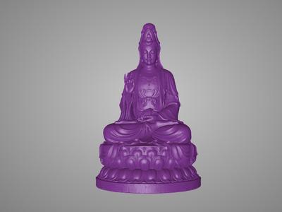 美院精品观音雕塑-3d打印模型