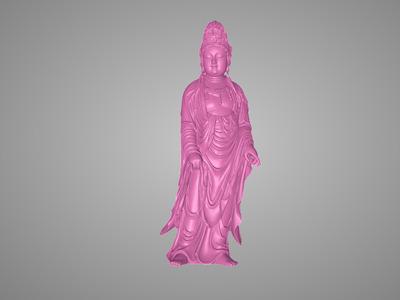 高清观音站立雕塑建模-3d打印模型