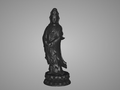 高精站观音-3d打印模型