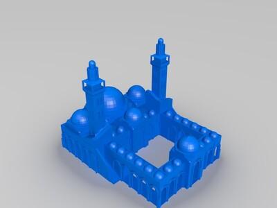 亚喀巴扎耶德清真寺-3d打印模型