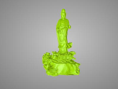 高精观音踏浪-3d打印模型