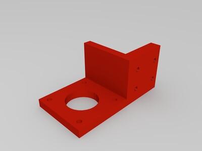 线轨挤出机电机座-3d打印模型