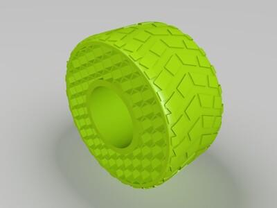 免充气轮胎-3d打印模型